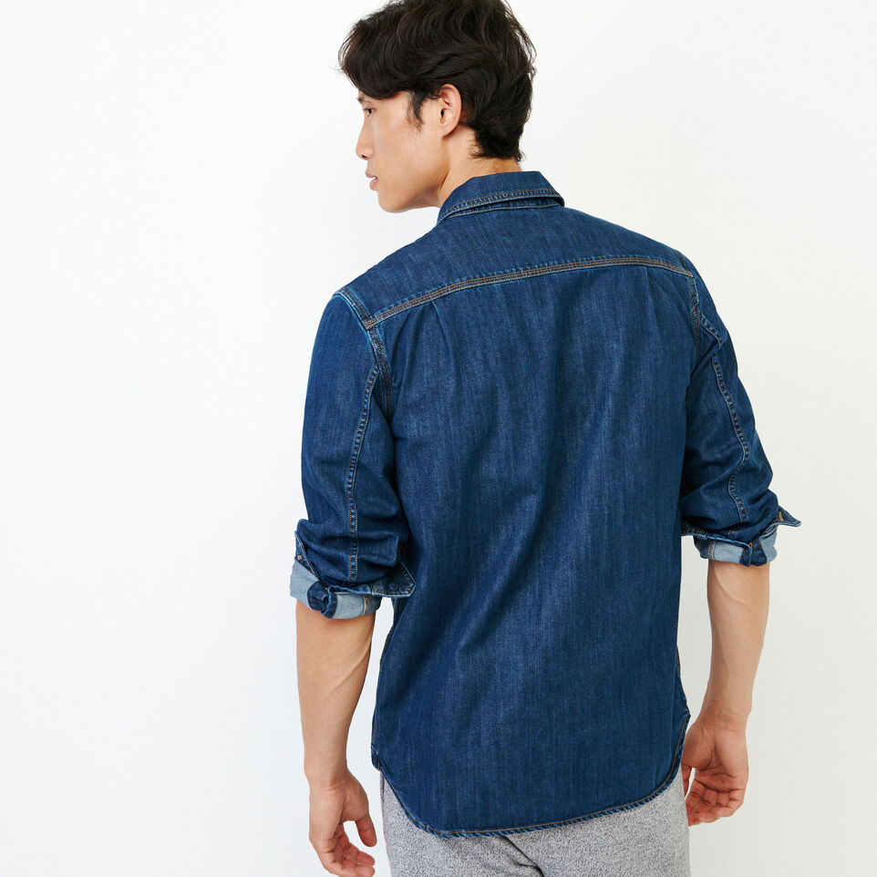 Roots-Men Our Favourite New Arrivals-Denim Work Shirt-Vintage Wash-D