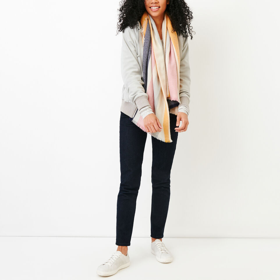 Roots-Women Leather Jackets-Alex Hoody Suede-Light Grey-B
