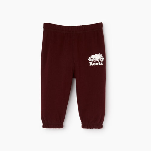 Roots-Kids Categories-Baby Original Sweatpant-Crimson-A