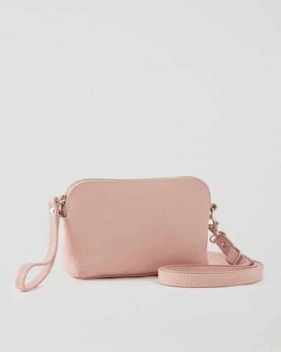 Roots-Leather Leather Bags-Christie Crossbody Cervino-Pink Pearl-A