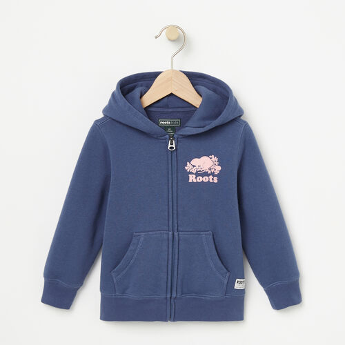 Roots-Kids Tops-Toddler Original Full Zip Hoody-Force Blue-A