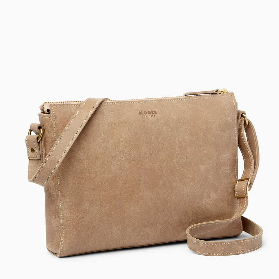 Roots-Leather  Handcrafted By Us Handbags-Robson Bag-Sand-C