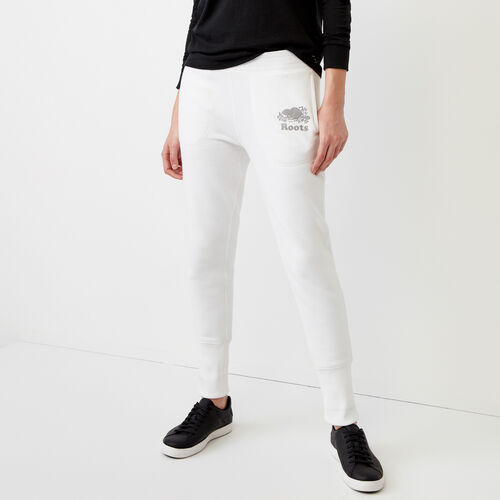Roots-Women Bottoms-Roots Reflective Skinny Pant-White-A