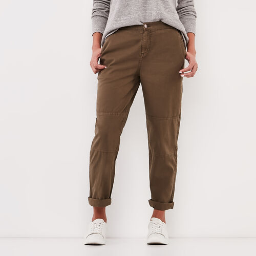 Roots-Sale Bottoms-Nadeen Pant-Dark Olive Green-A