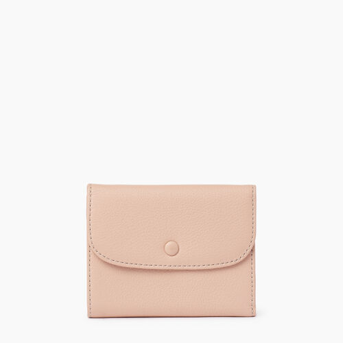 Roots-Leather Collections-Riverdale Wallet-Pink Mist-A