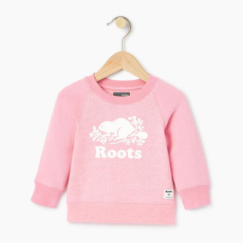 Roots-Kids Categories-Baby Original Crewneck Sweatshirt-Pastl Lavender Pper-A