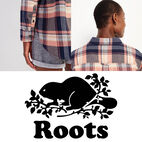 Roots-undefined-Relaxed Flannel Shirt-undefined-F