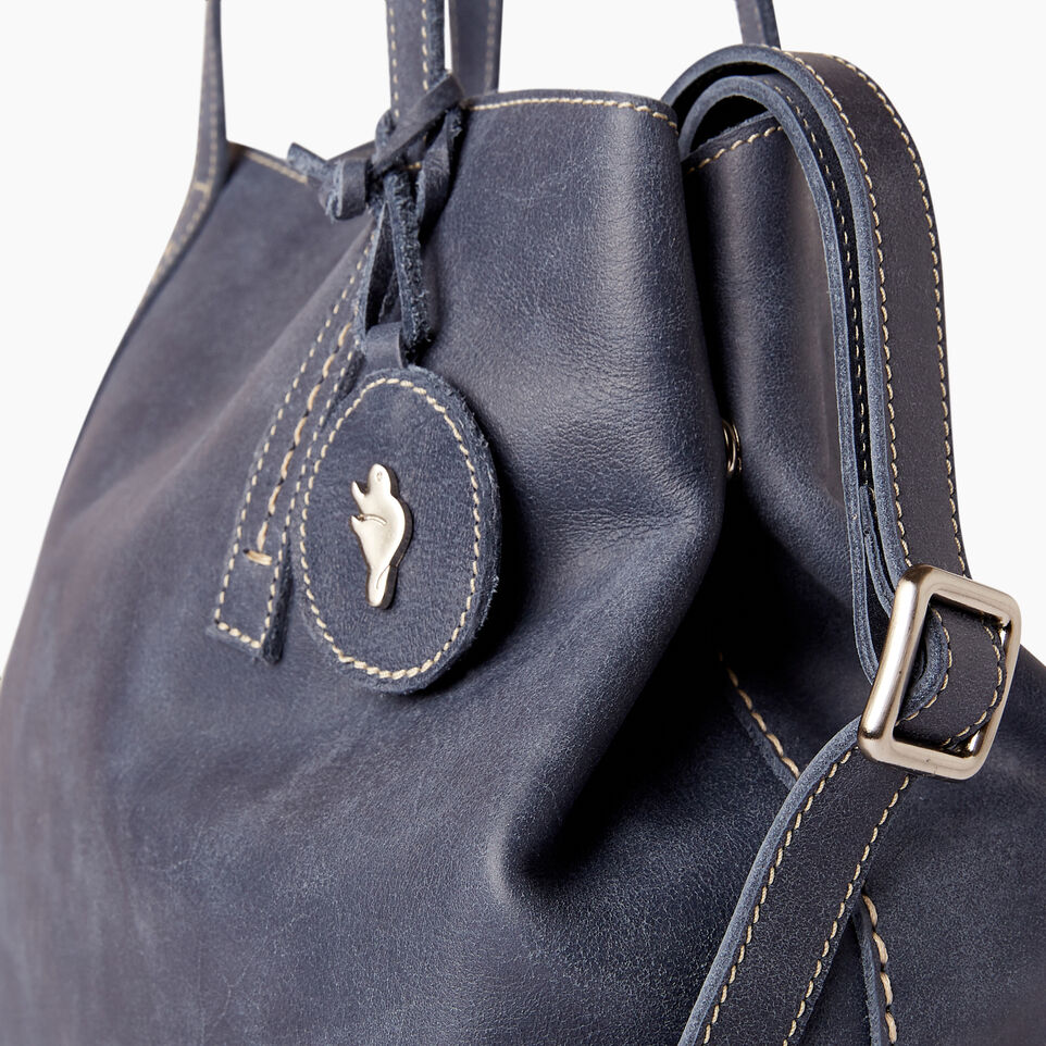 Roots-Leather  Handcrafted By Us Our Favourite New Arrivals-Amelia Tote Tribe-Navy-E