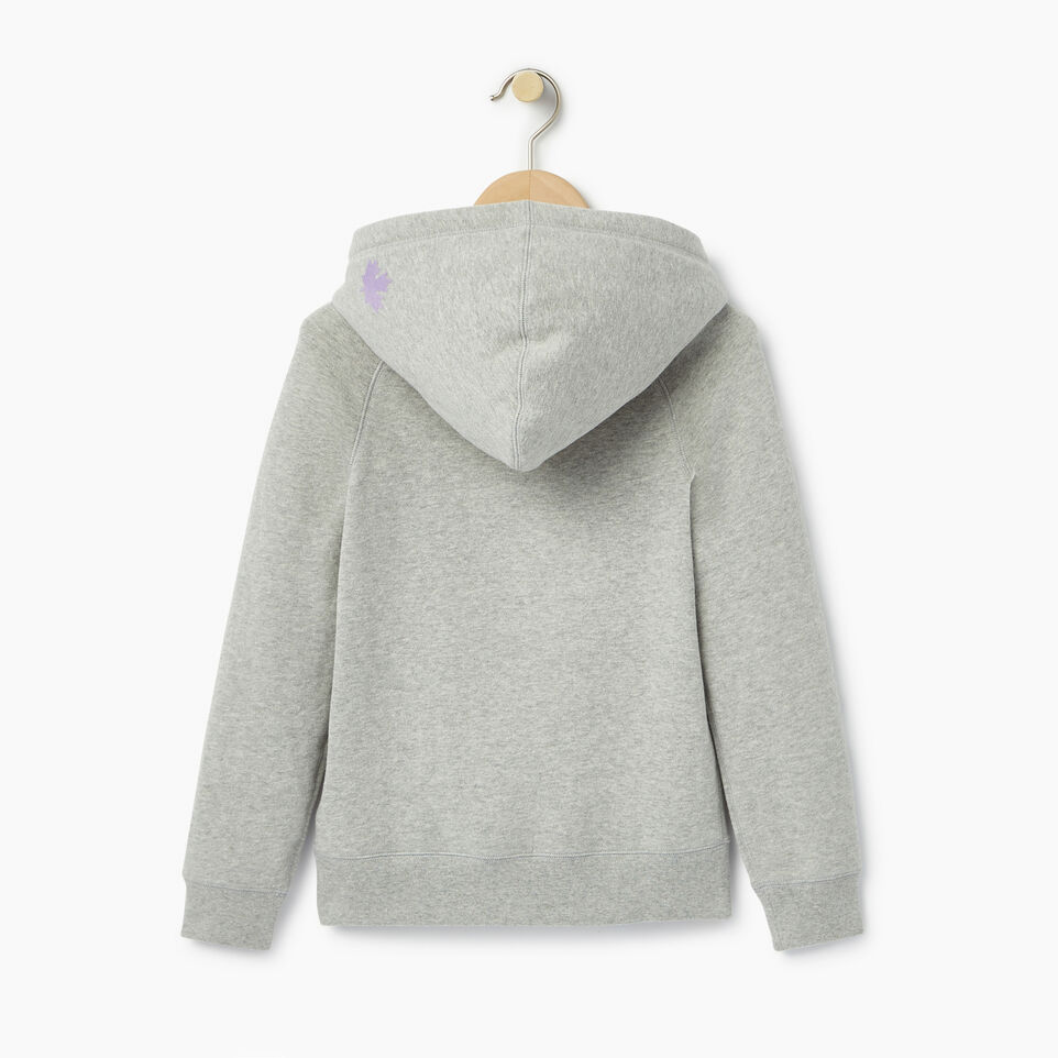 Roots-Clearance Kids-Girls Original Kanga Hoody-Grey Mix-B