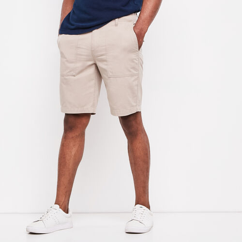 Roots-Men Shorts-Essential Summer Short-Essential Khaki-A