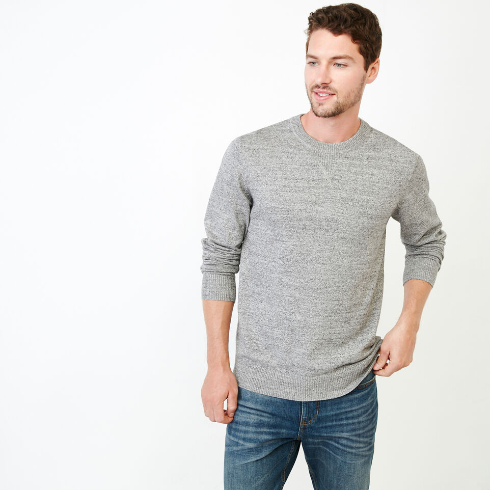 Roots-Men Our Favourite New Arrivals-All Seasons Crew Sweater-Sharkskin Mix-A