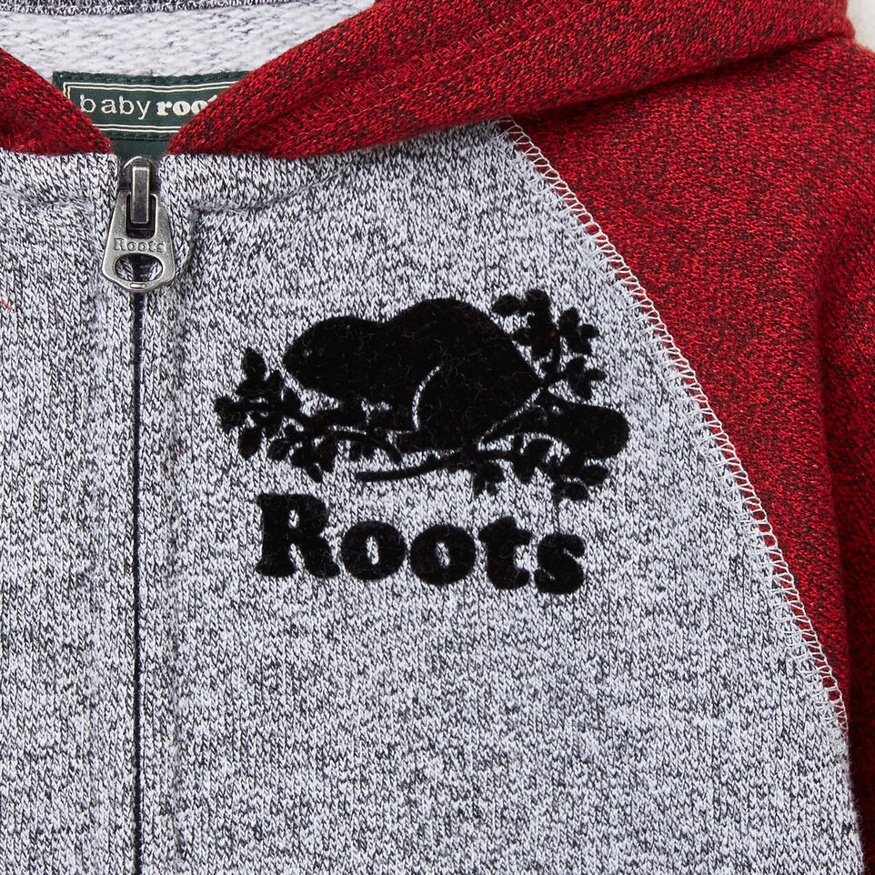Roots-undefined-Baby Contrast Full Zip Hoody-undefined-C