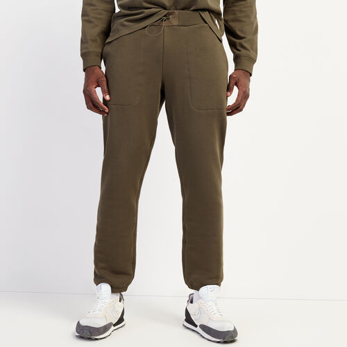 Roots-Men Bottoms-Utility Cargo Sweatpant-Fatigue-A