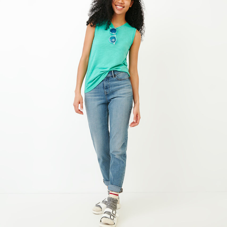 Roots-Women Our Favourite New Arrivals-Lorne Muscle Tank Top-Sea Green-B