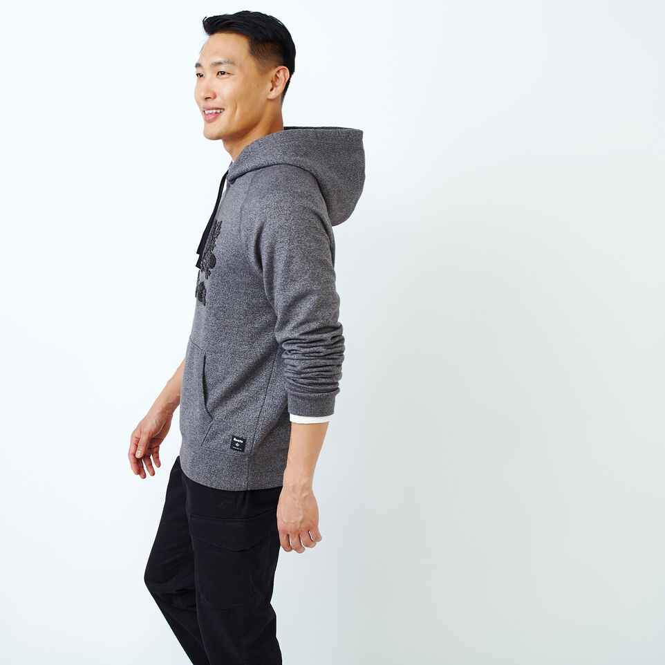 Roots-Men Our Favourite New Arrivals-Chenille Kanga Hoody-Charcoal Pepper-C