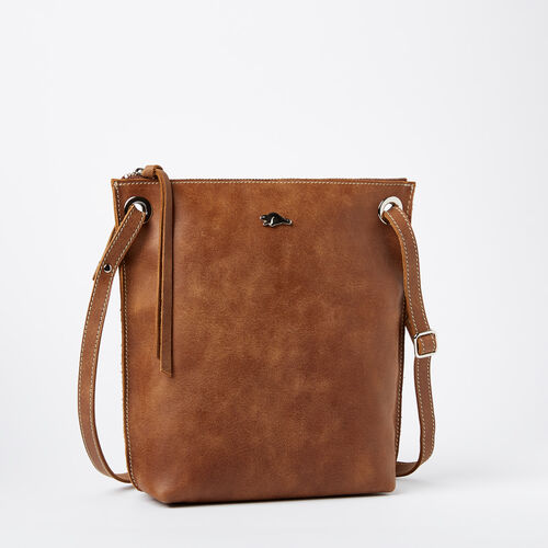 Roots-Leather Crossbody-Festival Bag Tribe-Natural-A