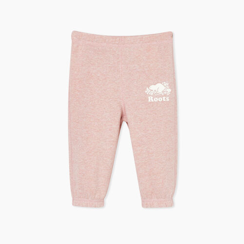 Roots-Kids Baby Girl-Baby Original Roots Sweatpant-Pink Mix-A