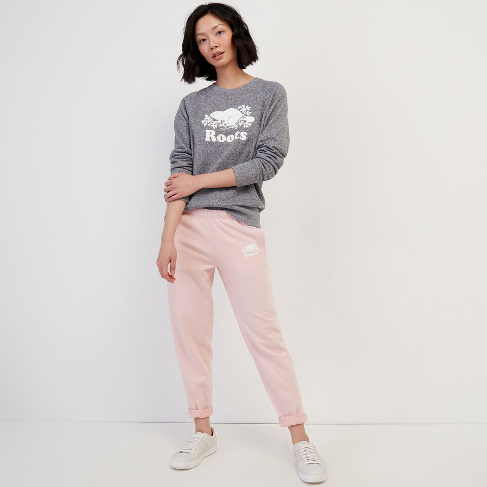 Roots-Sweats Sweatpants-Easy Ankle Sweatpant-Silver Pink Pepper-B