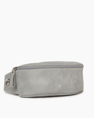 Roots-Leather New Arrivals-Large Belt Bag Tribe-Quartz-A