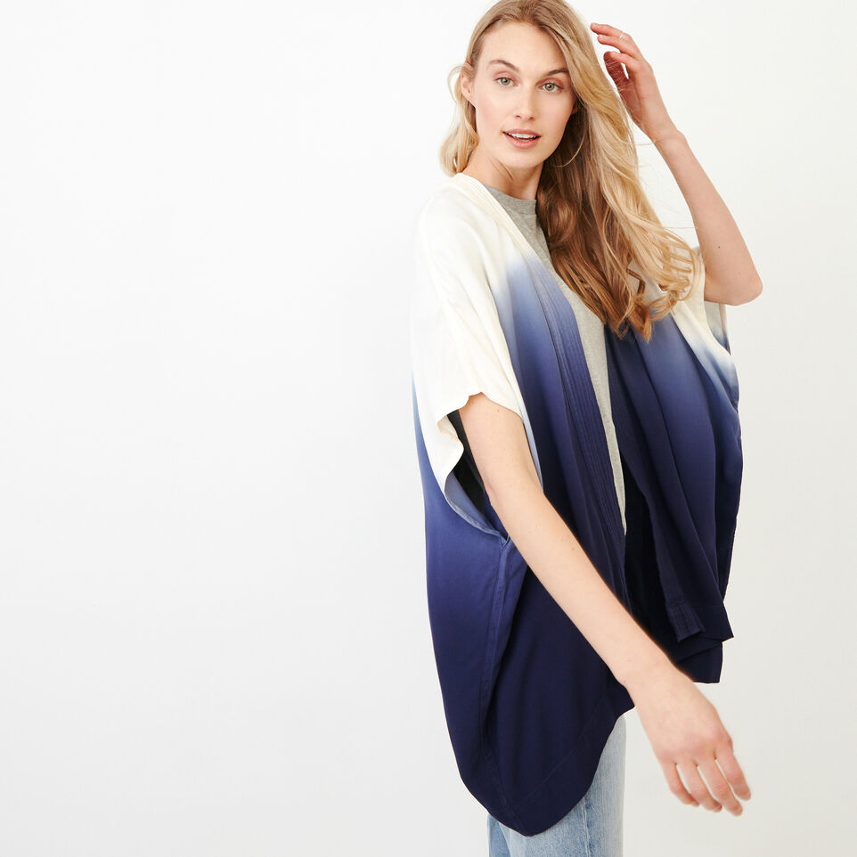 Roots-Women Our Favourite New Arrivals-Tessa Dip Dyed Kimono-Ombre Blue-C