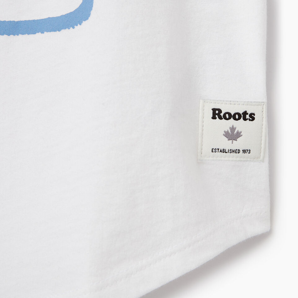 Roots-New For June Kids-Girls Camp T-shirt-Ivory-C
