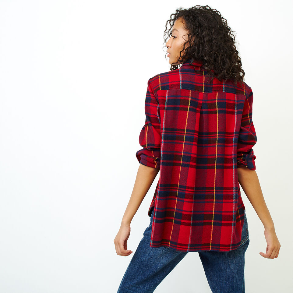 Roots-Women Our Favourite New Arrivals-Flannel Shirt-Cabin Red-D