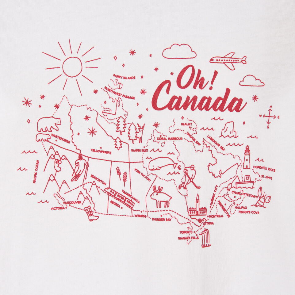 Roots-Sale Kids-Toddler Oh! Canada T-shirt-Crisp White-C