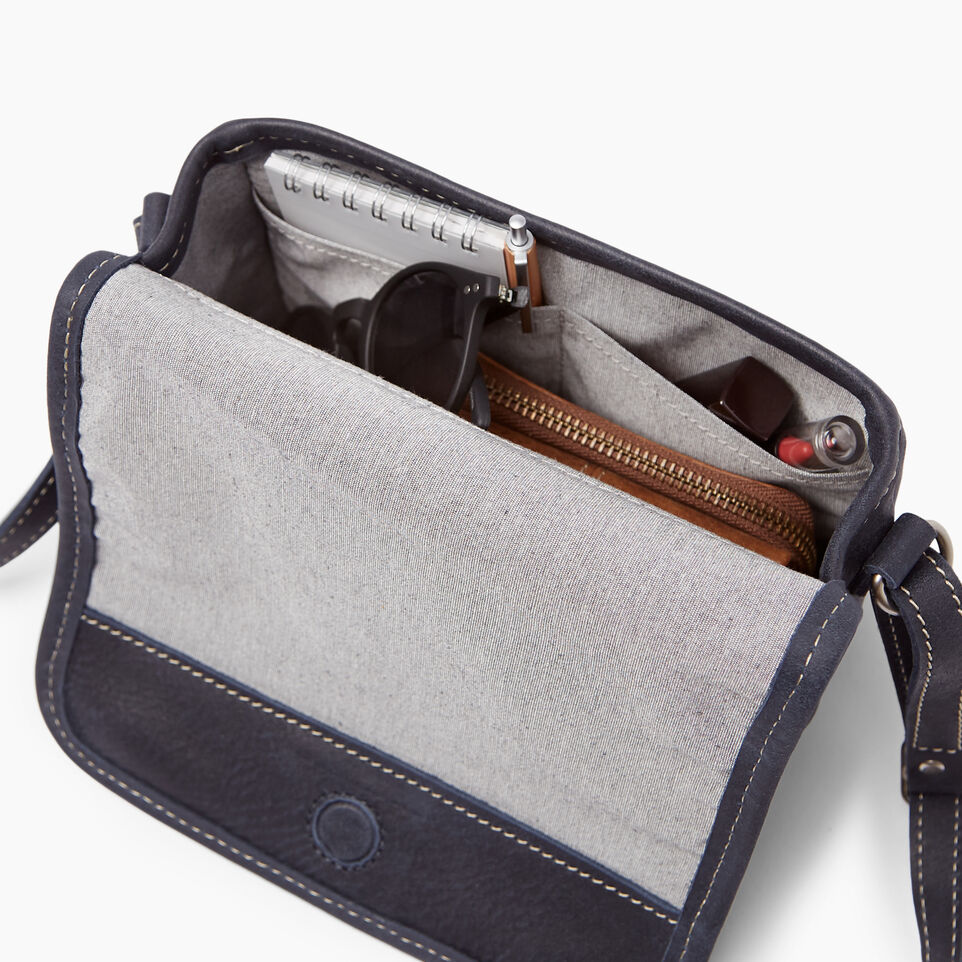 Roots-Clearance Leather-Angelina Bag Tribe-Dark Navy-E