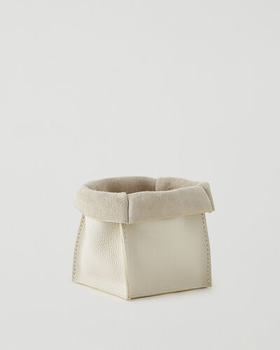 Roots-Leather Leather Accessories-Medium Rollover Basket Parisian-Ivoire-A