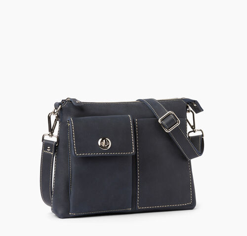 Roots-Leather Bestsellers-The Villager Tribe-Dark Navy-A
