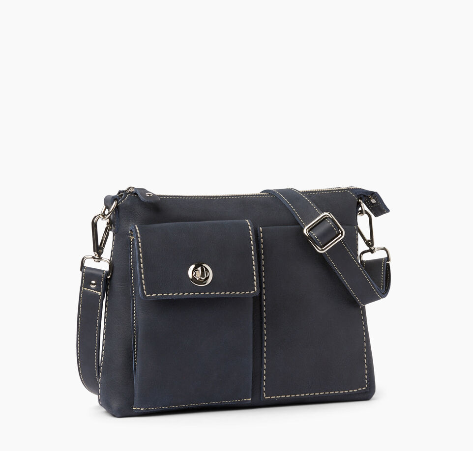 Roots-Clearance Leather-The Villager Tribe-Dark Navy-A