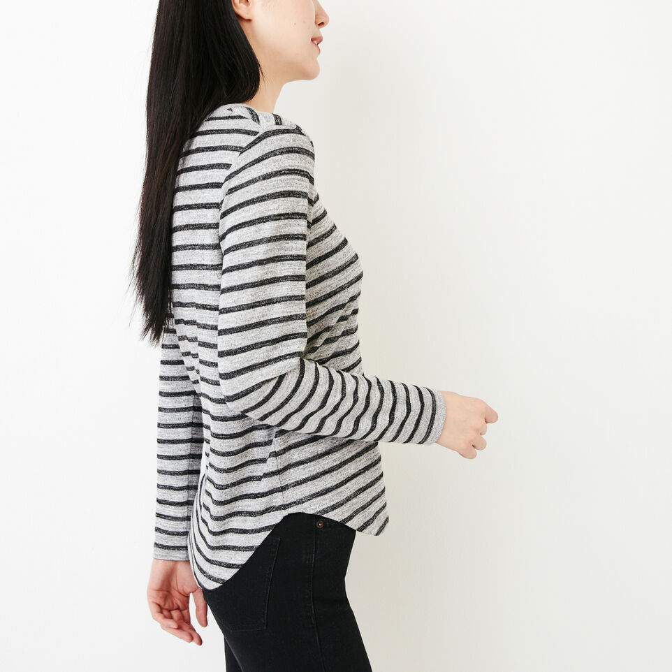 Roots-Women Our Favourite New Arrivals-Cayley Top-Salt & Pepper-C