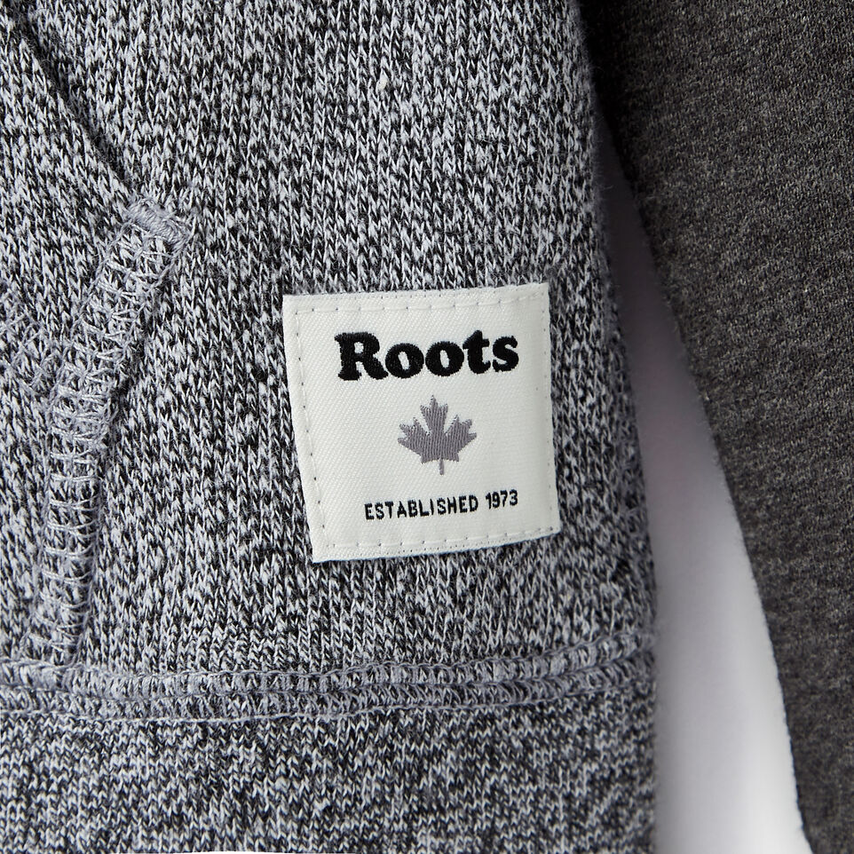 Roots-Clearance Kids-Boys Original Full Zip Hoody-Charcoal Mix-C
