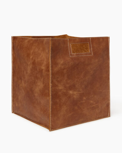 Roots-Articles En Cuir Maison Roots-Panier ultra-grand en cuir Tribe-Nature-A