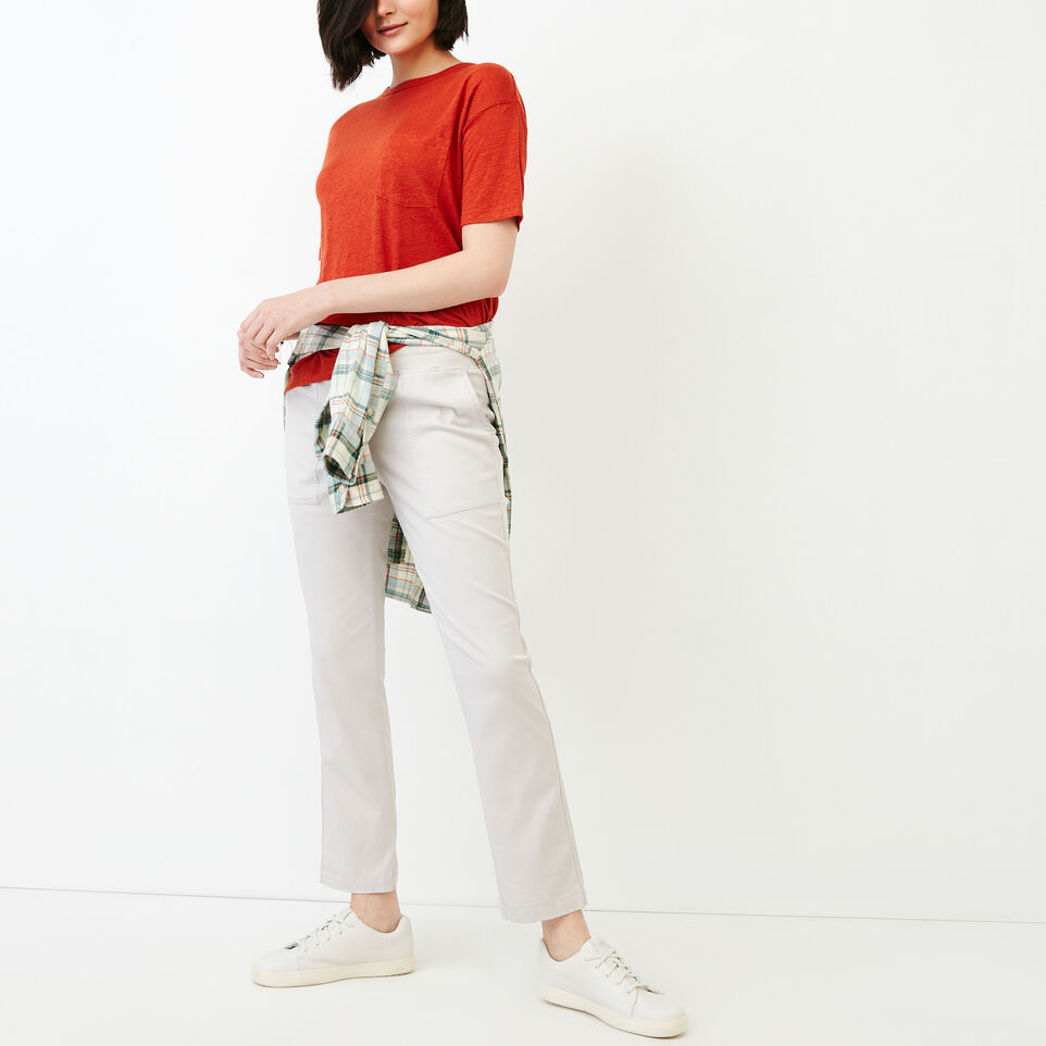 Roots-Women Bottoms-Essential Pant-Wind Chime-B