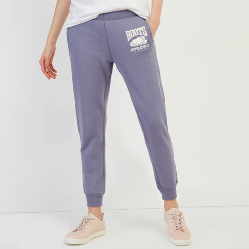Roots-Women Sweatpants-RBA Slim Sweatpant-Purple-A