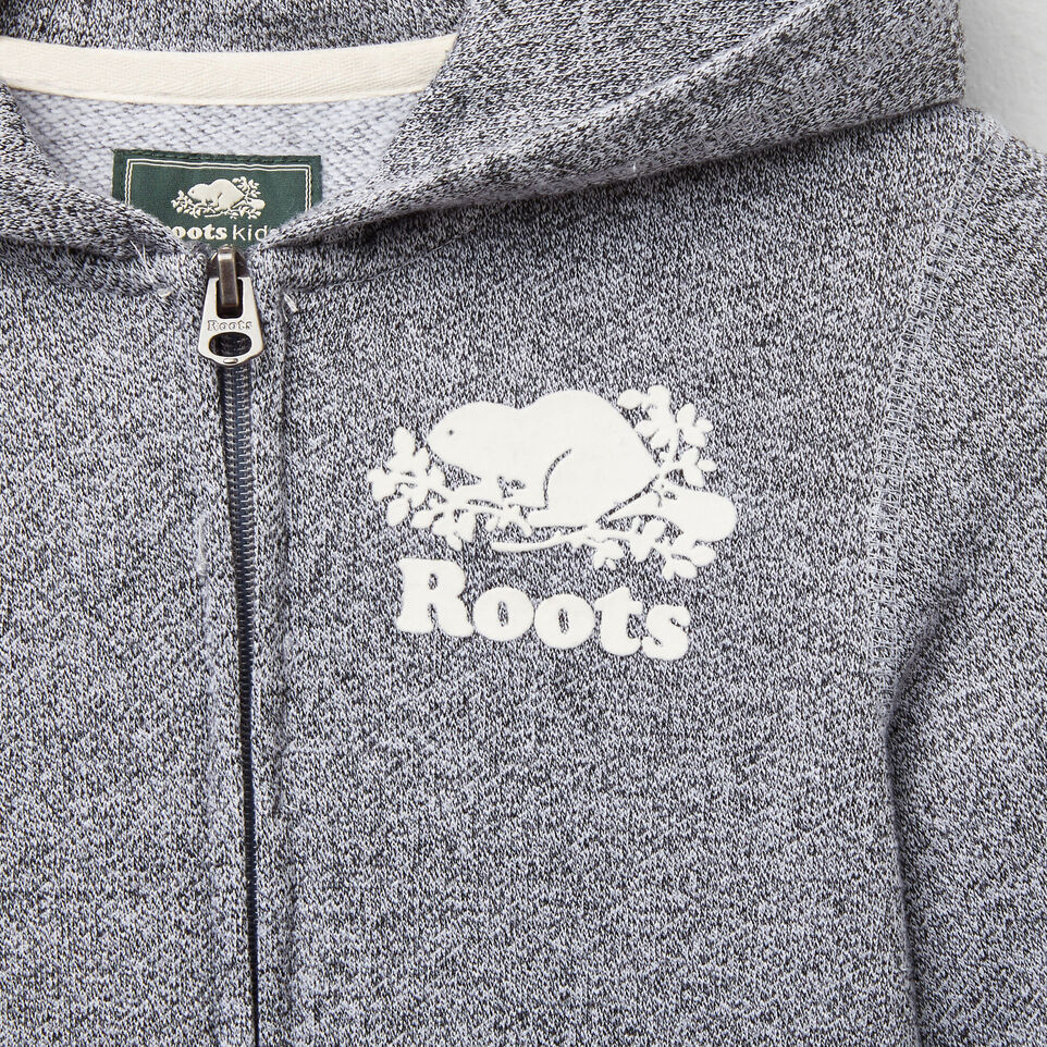 Roots-undefined-Girls Roots Salt and Pepper Original Full Zip Hoody-undefined-D