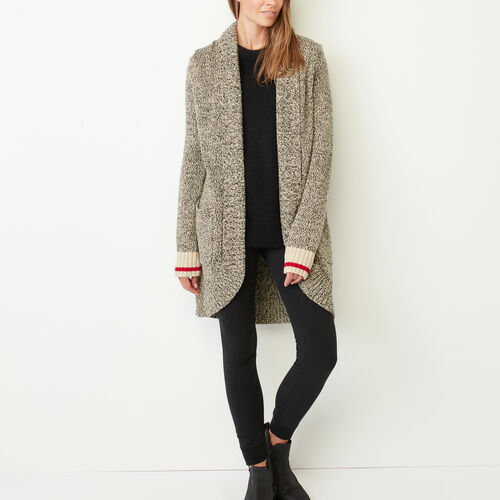 Roots-New For November The Roots Cabin Collection™-Roots Cotton Cabin Cardigan-Grey Oat Mix-A