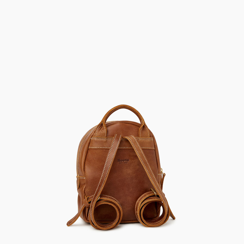 Roots-Leather Backpacks-City Chelsea Pack-Natural-C