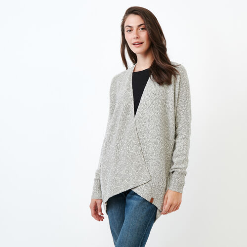Roots-Women Sweaters & Cardigans-Snowy Fox Open Cardigan-Snowy Fox-A