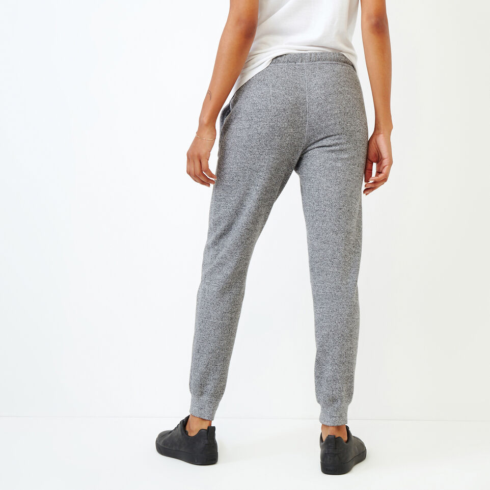 Roots-Women Categories-Slim Cuff Sweatpant - Tall-Salt & Pepper-D
