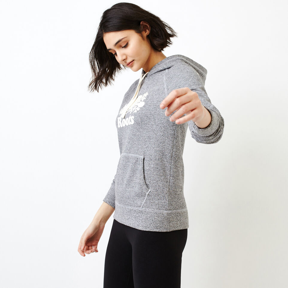 Roots-Women Sweats-Roots Salt and Pepper Original Kanga Hoody-Salt & Pepper-C