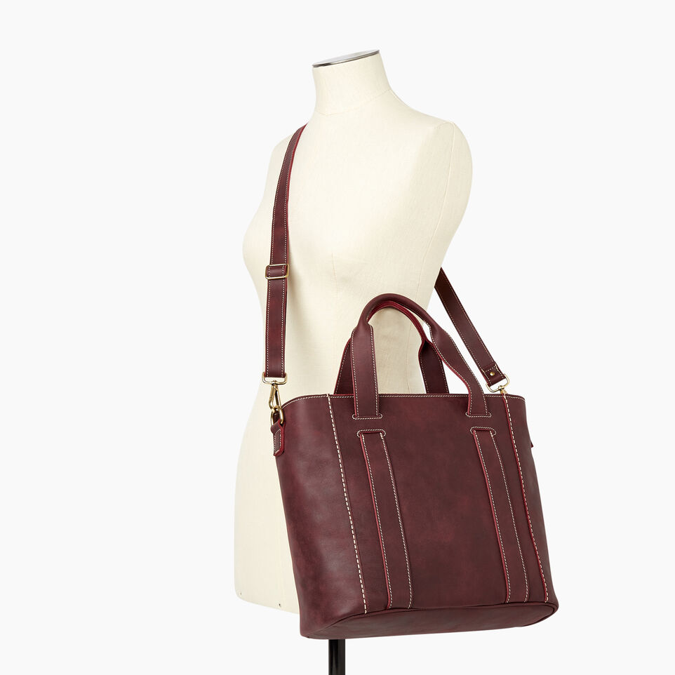 Roots-Leather  Handcrafted By Us Our Favourite New Arrivals-Victoria Tote-Crimson-B