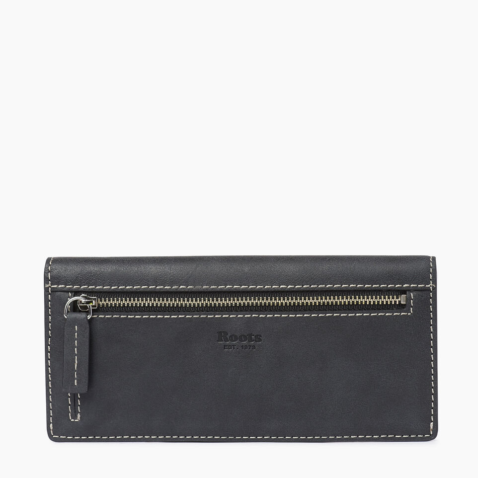 Roots-Leather  Handcrafted By Us Our Favourite New Arrivals-Riverdale Slim Wallet-Jet Black-B