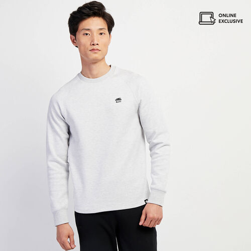 Roots-Men New Arrivals-Journey Crew Sweatshirt-Vapour Grey Mix-A