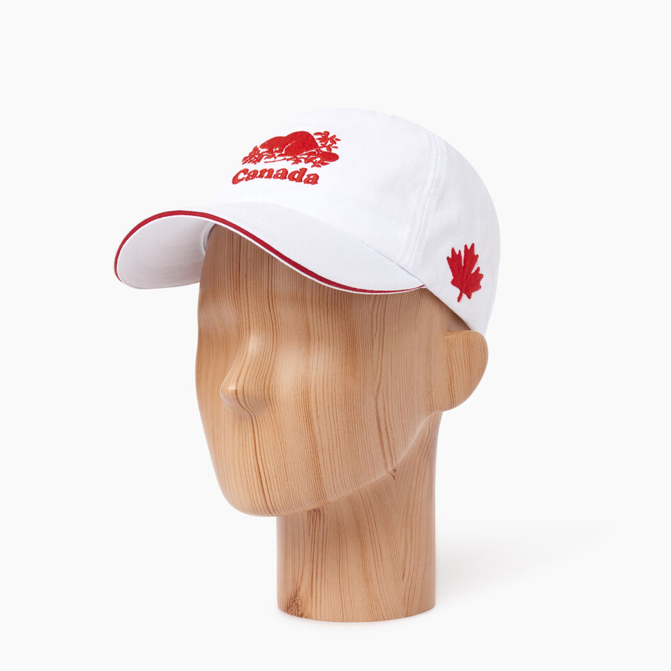 Roots-Men Our Favourite New Arrivals-Canada Baseball Cap-White-B
