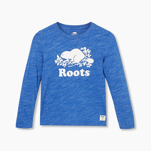 Roots-Gifts Gifts For Kids-Boys Original Cooper Beaver T-shirt-Blue Mix-A