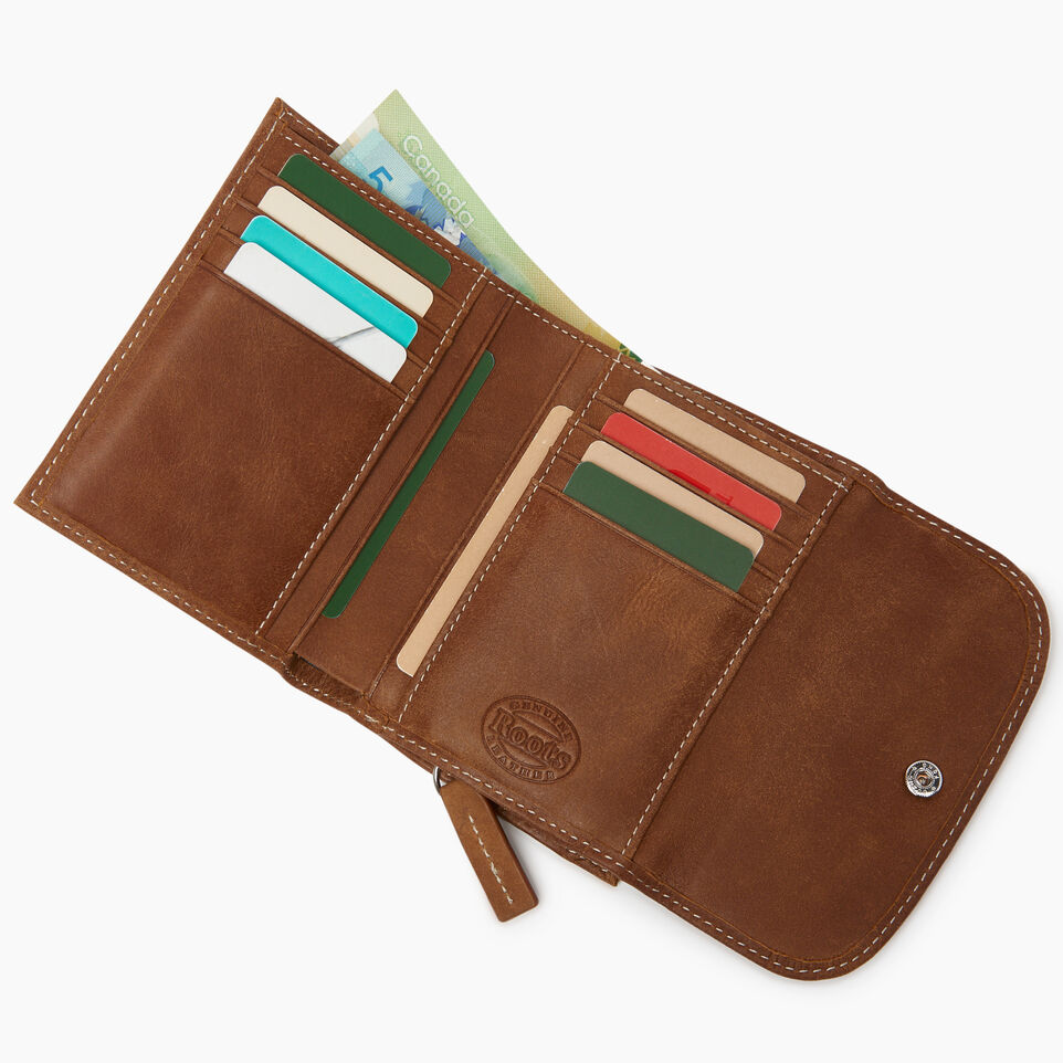 Roots-Leather  Handcrafted By Us Our Favourite New Arrivals-Riverdale Wallet-Natural-D