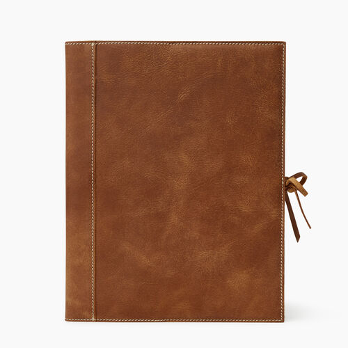 Roots-Women Leather Accessories-Large Sketchbook Tribe-Natural-A