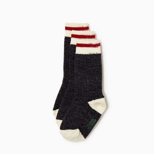 Roots-Kids Categories-Kids Roots Cabin Sock 3 Pack-Black Mix-A